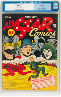 All Star Comics #6 Rockford Pedigree (DC, 1941) CGC NM 9.4 Off-white to white pages