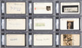 Baseball Collectibles:Others, 1939 Hall of Fame Inaugural Class Signed Index Cards & Cut Signatures Lot of 9....