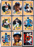 Baseball Collectibles:Others, 1991 Hank Aaron Signed Upper Deck Heroes Set of 9. ...