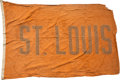 Baseball Collectibles:Others, Circa 1940 Yankee Stadium Flag: St. Louis Browns....