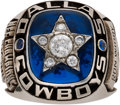 Football Collectibles:Others, 1971 Dallas Cowboys NFL Championship Ring Presented to Ron Widby. ...