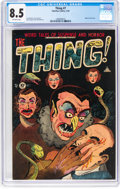 Golden Age (1938-1955):Horror, The Thing! #7 (Charlton, 1953) CGC VF+ 8.5 Off-white pages....