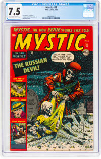 Mystic #18 (Atlas, 1953) CGC VF- 7.5 Cream to off-white pages