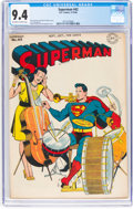Golden Age (1938-1955):Superhero, Superman #42 (DC, 1946) CGC NM 9.4 Off-white to white pages....