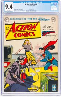 Action Comics #142 (DC, 1950) CGC NM 9.4 White pages