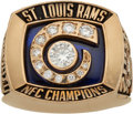 Football Collectibles:Others, 2001 St. Louis Rams NFC Championship Ring Presented to Defensive End Chidi Ahanotu. ...