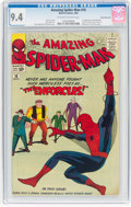 Silver Age (1956-1969):Superhero, The Amazing Spider-Man #10 Rocky Mountain Pedigree (Marvel, 1964)CGC NM 9.4 Off-white to white pages....