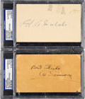 Baseball Collectibles:Others, 1936 Al Simmons & 1956 Ed Walsh Signed Government Postcards, PSA/DNA Authentic....