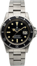 Timepieces:Wristwatch, Rolex, Ref. 1680 Submariner, Oyster Perpetual Date, StainlessSteel, Circa 1975. ...