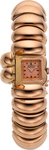 Timepieces:Wristwatch, Vacheron & Constantin Fine 18k Rose Gold Ladies Retro Bracelet Watch, circa 1935. ...