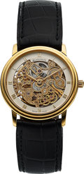 Timepieces:Wristwatch, Blancpain, Fine 18K Yellow Gold Skeletonized Watch, Automatic, Ref. 0071.418.XS8, Circa 1996. ...
