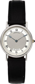 Timepieces:Wristwatch, Breguet, Ref. 5907, 18k White Gold Ultra Thin, Circa 2000. ...