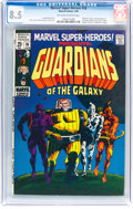 Silver Age (1956-1969):Superhero, Marvel Super-Heroes #18 Guardians of the Galaxy (Marvel, 1969) CGCVF+ 8.5 Off-white to white pages....