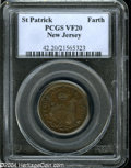Colonials: , (1670-75) FARTH St. Patrick Farthing VF20 PCGS....