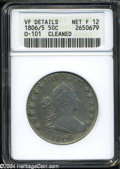 Early Half Dollars: , 1806/5 50C--Cleaned--ANACS. VF Details, Net Fine 12....