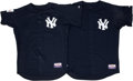 Baseball Collectibles:Uniforms, 2004 New York Yankees Batting Practice Jerseys From Japanese Exhibition Lot of 2. At the onset of the 2004 Major League camp...