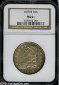 Bust Half Dollars: , 1819/8 50C Small 9 MS61 NGC....