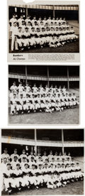 Baseball Collectibles:Photos, 1950's New York Yankees Oversized Photographs Lot of 3 from The Enos Slaughter Collection. ...