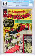 Silver Age (1956-1969):Superhero, The Amazing Spider-Man #14 (Marvel, 1964) CGC FN 6.0 Cream tooff-white pages....