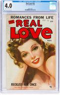Golden Age (1938-1955):Romance, Real Love #34 (Ace Periodicals, 1950) CGC VG 4.0 Cream to off-whitepages....