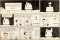 Original Comic Art:Comic Strip Art, Charles Schulz Peanuts Sunday Comic Strip Charlie Brown, Snoopy and Lucy Original Art 12-30-62 (United Feature Syn...