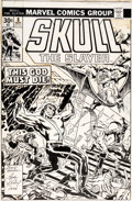 Original Comic Art:Covers, Jack Kirby and Frank Giacoia (attributed) Skull the Slayer #8 Cover Original Art (Marvel, 1976)....