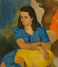 Paintings:Contemporary, Angel Botello (1913-1986). Portrait of Consuelo Ulloa. Oil on canvas. 32-3/4 x 28-3/4 inches (83.2 x 73.0 cm). Signed lo...