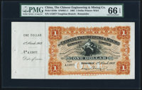 China Chinese Engineering & Mining Company Limited 1 Dollar 1.3.1902 Pick S246r S/M#K1-1 Remainder PMG Gem Uncir...