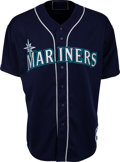 "Baseball Collectibles:Uniforms, 2001 Ichiro Suzuki Game Worn Seattle Mariners Rookie ""Flag"" Jersey...."