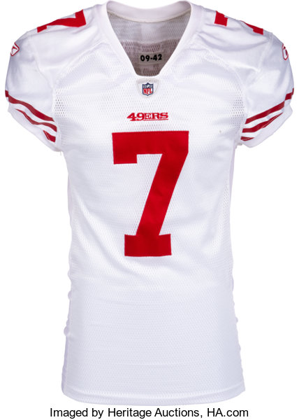 brand new 24d2b a331c 2011 Colin Kaepernick Debut Game Worn & Signed San Francisco ...