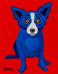 George Rodrigue (1944-2013) With a Warm Heart, 1998 Oil on canvas 20 x 16 inches (50.8 x 40.6 cm)