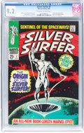 Silver Age (1956-1969):Superhero, The Silver Surfer #1 (Marvel, 1968) CGC NM- 9.2 Off-white to white pages....