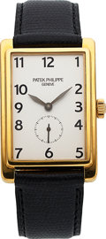 Timepieces:Wristwatch, Patek Philippe, Very Fine Ref. 5009J, Yellow Gold Rectangular,Manual Wind, Circa 1994. ...