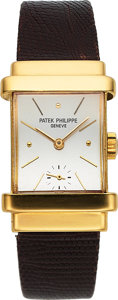 "Timepieces:Wristwatch, Patek Philippe, Ref. 1450J ""Top Hat"", 18k Yellow Gold, Circa 1940's. ..."