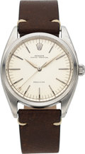 Timepieces:Wristwatch, Rolex, Rare Modified Ref. 6556 Tru-Beat Precision, Stainless Steel, Automatic, Circa 1961 . ...