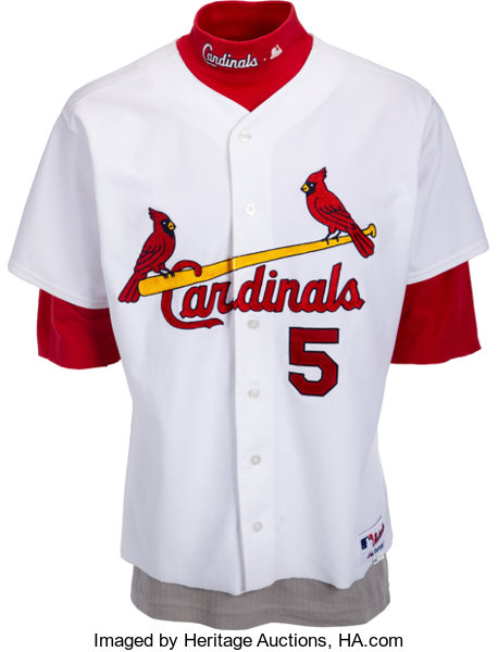 pretty nice cc4bb 58217 2003 Albert Pujols Game Worn St. Louis Cardinals Jersey ...