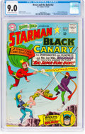 Silver Age (1956-1969):Superhero, The Brave and the Bold #62 Starman and Black Canary (DC, 1965) CGCVF/NM 9.0 Off-white to white pages....