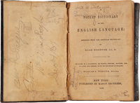 """Pocket Dictionary Belonging to John F. League of Company """"H"""", 18th Mississippi Infantry"""