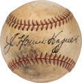 Baseball Collectibles:Balls, Circa 1940 Honus Wagner Single Signed Baseball....