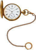 Timepieces:Pocket (pre 1900) , Patek Philippe & Co., Early Gold Hunters Case For Bailey & Co. Philadelphia, circa 1871. ...
