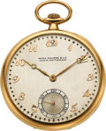 Timepieces:Pocket (post 1900), Patek Philippe & Cie, 18k Gold Pocket Watch, circa 1920's. ...