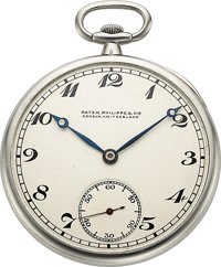 Patek Philippe & Cie, Fine Platinum Pocket Watch, circa 1923