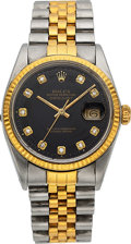Timepieces:Wristwatch, Rolex, Ref. 16013 DateJust, Steel and Gold, Circa 1986. ...