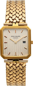 Timepieces:Wristwatch, Patek Philippe Ref. 3773 Gent's Gold Wristwatch, circa 1980. ...