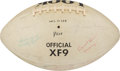 Football Collectibles:Balls, 1961 Look All American Team Signed Football - With High-Grade Ernie Davis. ...