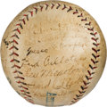 Baseball Collectibles:Balls, 1925 Pittsburgh Pirates Team Signed Baseball from the Joe L. Brown Collection....
