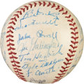 Baseball Collectibles:Balls, 1938 New York Yankees Team Signed Baseball....