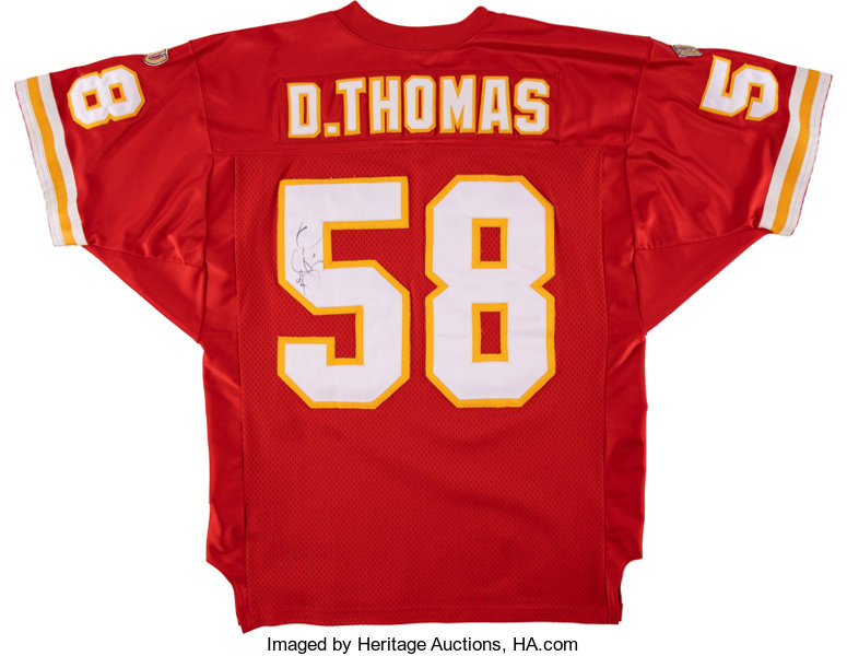 separation shoes 78295 1ab8a 1990's Derrick Thomas Signed