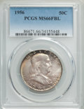 Franklin Half Dollars, 1956 50C MS66 Full Bell Lines PCGS. PCGS Population: (840/47). NGC Census: (193/7). MS66. ...