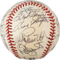 Baseball Collectibles:Balls, 1999 Hall of Famers Multi-Signed Baseball from The Enos Slaughter Collection....